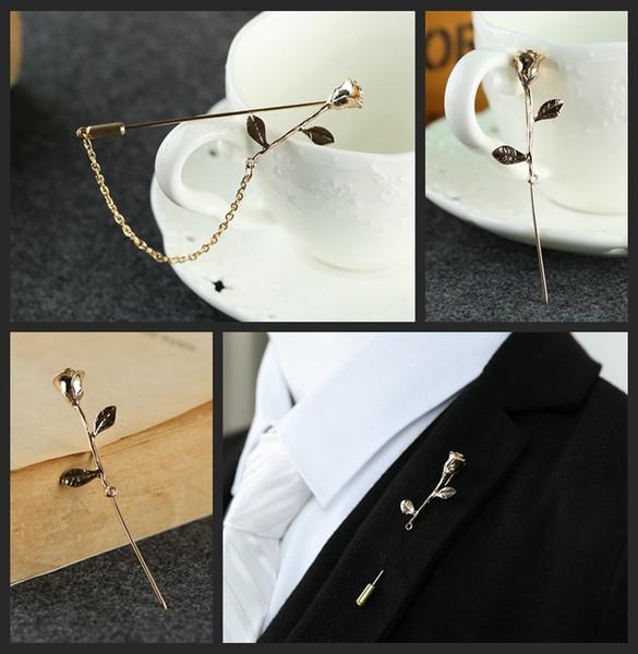 Broche de metal de alto grado broche broche traje traje un pin largo aguja mantón hebilla accesorios al por mayor, envío gratis