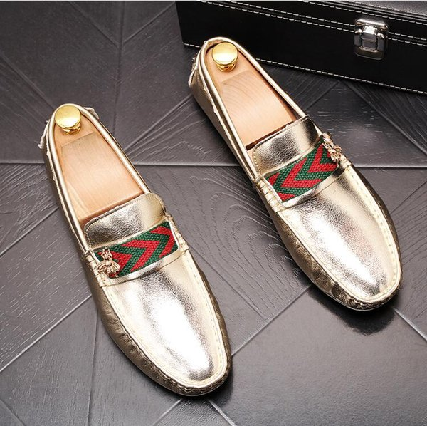 2019 İtalyan klasik siyah erkek deri ayakkabı açık erkek ayakkabıları moda erkek rahat ayakkabılar orijinal ambalaj