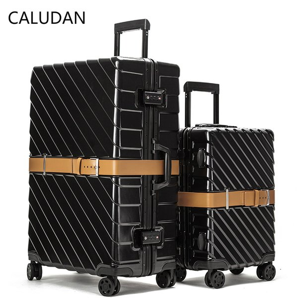 """CALUDAN 20"""" 24"""" 28"""" Aluminum Frame + PC Travel Rolling Lugagge Suitcase Bag,New Hardside Carry One ,High quality Trolley Case"""