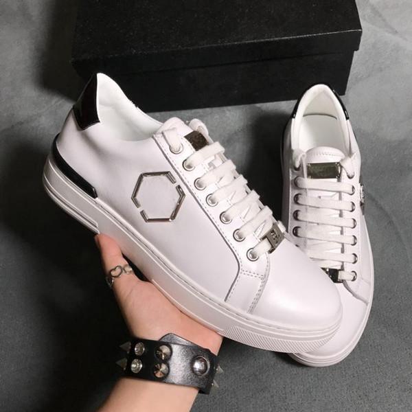 2019 últimas sapatos masculinos da moda tendência leSather marca casuais sapatos tamanho 38-44