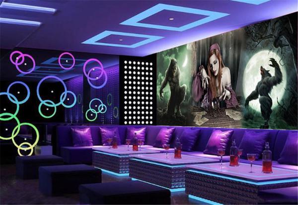 Papel de parede 3d promocional bonita beleza e ilustração besta Prático decorativo Bar KTV papel de parede premium
