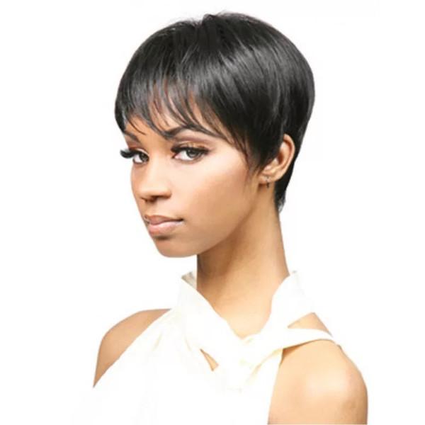 2019 europeu e americano peruca feminina preto moda cabelo curto africano periwig capuz estoque