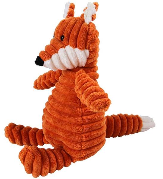 HOT juguete lindo perro de mascota del perrito de felpa sonido chirriante Chew del Squeaker cerdo cocodrilo del mono pato elefante ovejas juguetes encantadores juguetes para mascotas