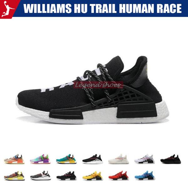 Williams Hu trail Human Race Pharrell Afro Hu Solar Pack Homecoming Cream holi Core Black Men Women Running Shoes sports sneaker size 36-45