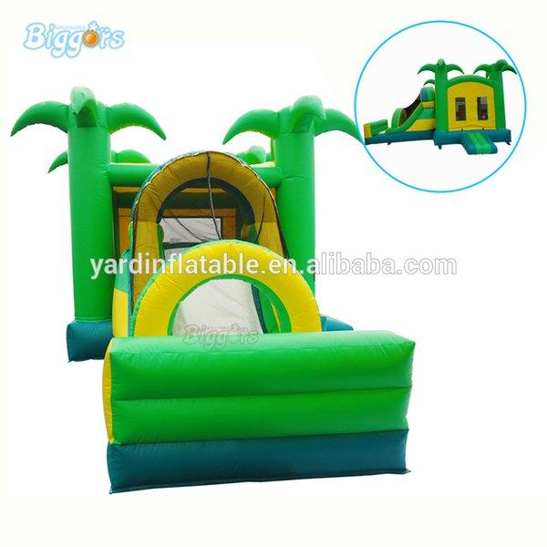 Jungle Inflatable Bounce House Kids Play Bouncy Castle Combo Slide