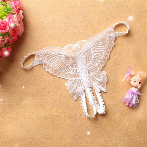 Panties Butterfly Lace Micro Women Open Thongs G Strings Transparent Underwear Underwear Women Ropa Interior Femenina #CE25