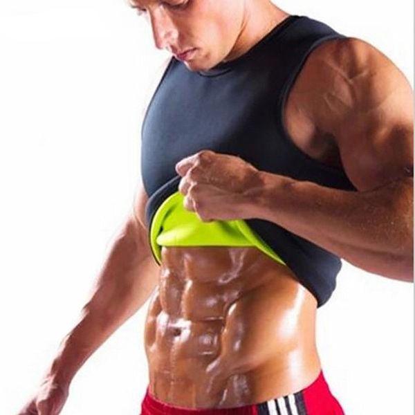 Бодибилдинг Фитнес Tank Top Мужчины неопрена Ультратонкий тела Shaper для похудения жилет корсет топы Muscle
