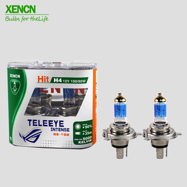 XENCN TELEEYE intense lumière blanche Ampoule Brighter de phare de voiture lampe H1 H3 H4 H7 Haloger Livraison gratuite 2 pcs