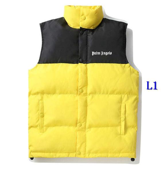 Роскошные дизайнерские жилеты для мужчин вниз жилеты с фирменными буквами 2020 классические мужские куртки повседневные жилеты пальто 3 цвета S-XL WholesaleA