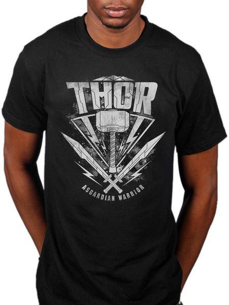 Official Thor Ragnarok Hammer Logo T-Shirt Guardian Warrior Captain America Funny free shipping Unisex Casual Tshirt top