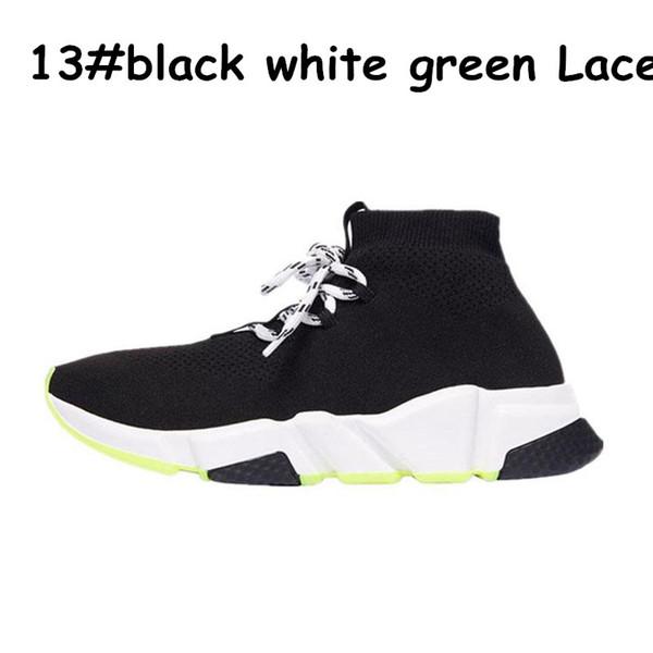 A13 black white green lace