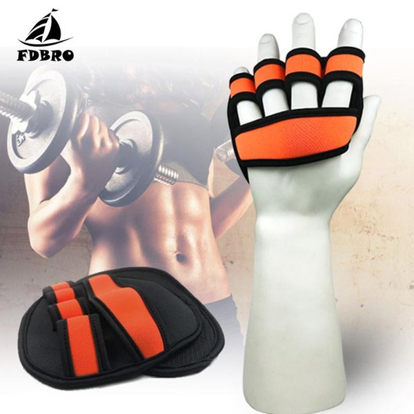 FDBRO 1Pair Дайвинг Материал ладони Защита Обучение Перчатка AntiSlip Легкий вес Подъемно Палм GripPads тренировки Gym перчатки