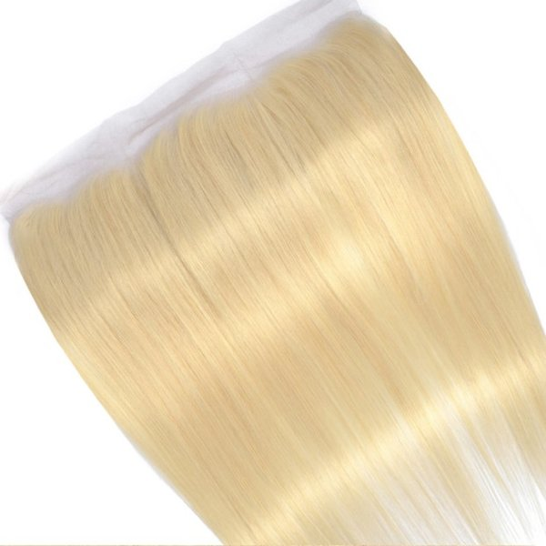 13x4 Lace Frontal Closure 10A Blonde Color #613 Silky Straight Peruvian Virgin Human Hair Ear to Ear Lace Frontal for Woman Free Shipping