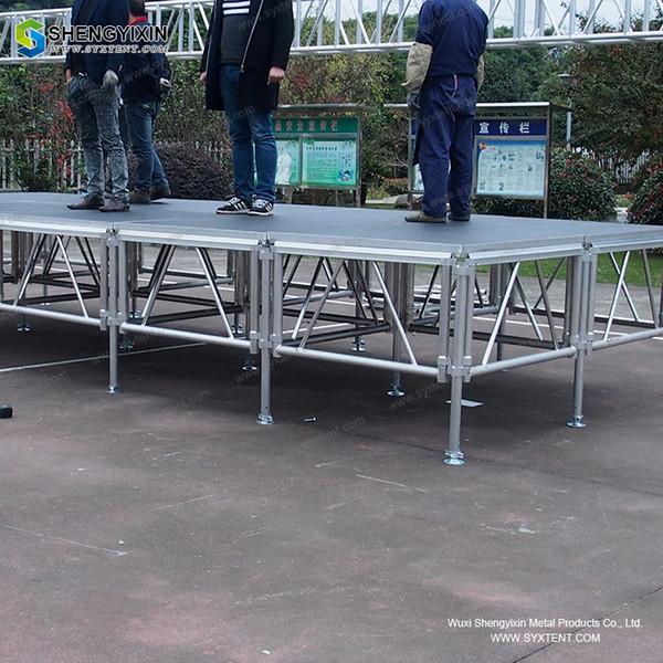 Music Stage Platform Регулируемые ножки Spigot Truss System алюминиевая ферменная палатка с регулируемой по высоте деревянной рамой
