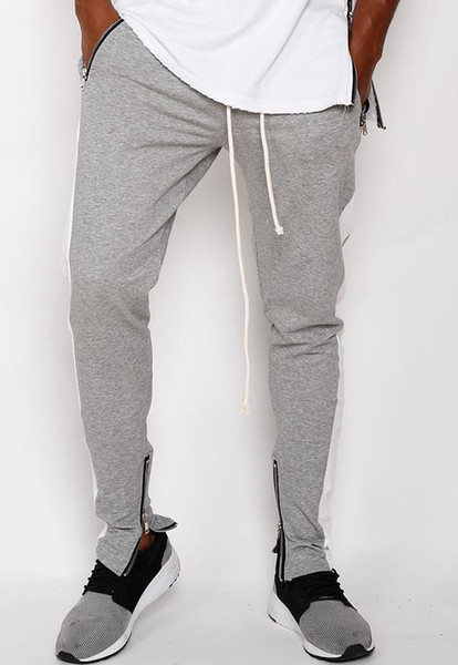 SİS Biber Vogue Spor Pantolon Erkek Renkler Çizgili Fermuar Casual Kaykay Kalem Pantolon Sweatpants