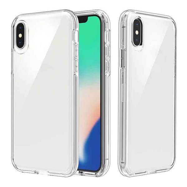 Clear Hybrid PC TPU Back Cover for iPhone X XS Shockproof Protection Bumper Shell Cover For iPhone 11 Pro XS MAX X 8 7 plus Armor Cases