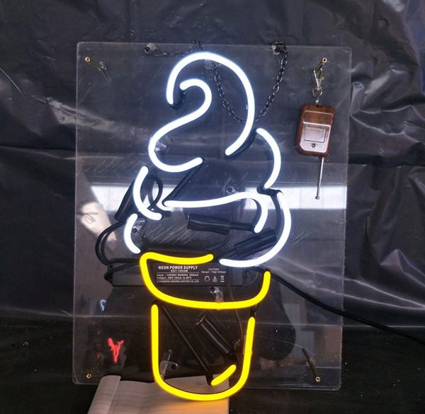 Fabbrica Chiaro Acrilico GELATO Neon Sign Light Wall Pubblicità Intrattenimento Decorazione Art Display Vetro Lampada al neon 17 '' 24 '' 30''40 ''