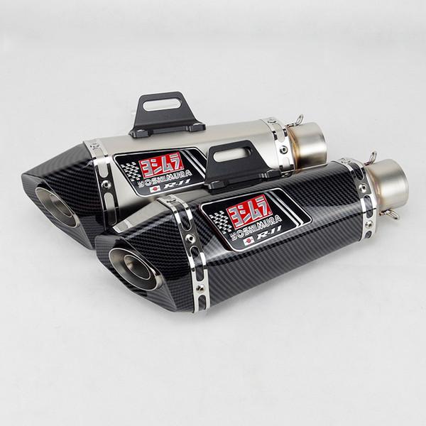 top popular 51mm inlet Universal motorcycle yoshimura exhaust muffler for FZ1 R6 R15 R3 ZX6R ZX10 1000 CBR1000 GSXR1000 650 K7 K8 K11 2021