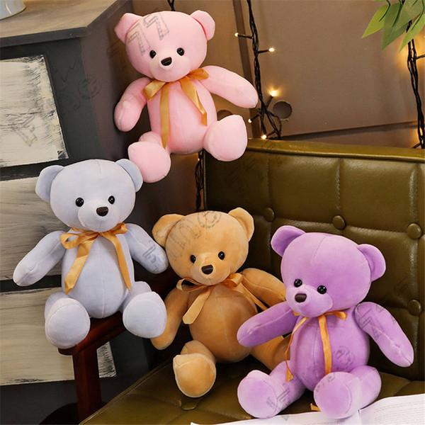 Ours En Peluche Mignon Couleur Poupée En Peluche Jouet Enfant Cadeau D'apaisement Poupée Ragdoll Teddy Bear En Peluche Décoration