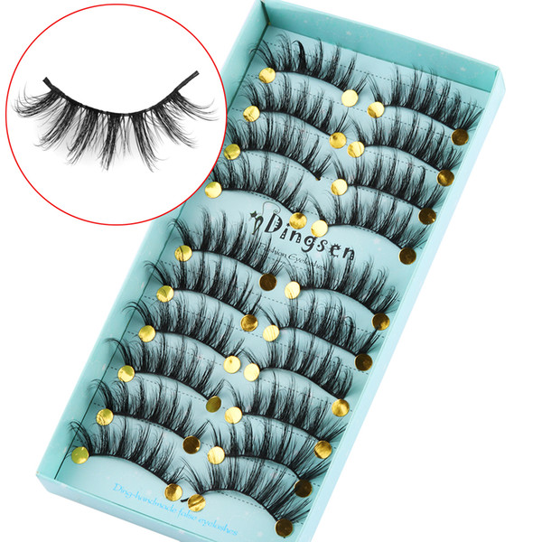 10 Pairs 3D Soft Faux Mink Hair False Eyelashes Crisscross Wispy Fluffy Lashes Extension Natural Eyelash Eye Makeup Tools