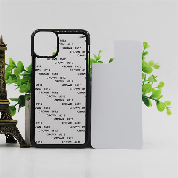 10 pcs Retail DIY 2D Sublimation Case Hard PC for iPhone New Models For iPhone 5.8 6.1 6.5 2019 With Aluminum Plate