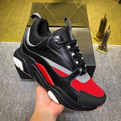 Designer Shoes das mulheres dos homens da sapatilha de luxo D couro confortáveis Casual B22 instrutor Walking Knit Meshu acima sapatas 060166