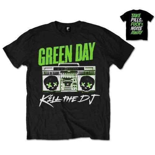 Best Graphic Tees O-Neck Funny Short Sleeve Green Day Kill The Dj 100% Cotton Mens T-Shirt T Shirt For Men