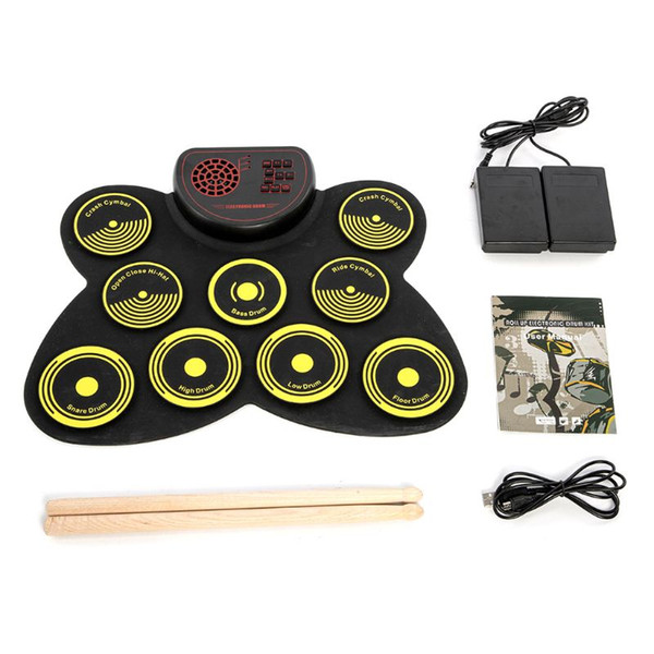 best selling Hand-rolled Electronic Drum Adult Children Beginners Home Portable Rack Drums