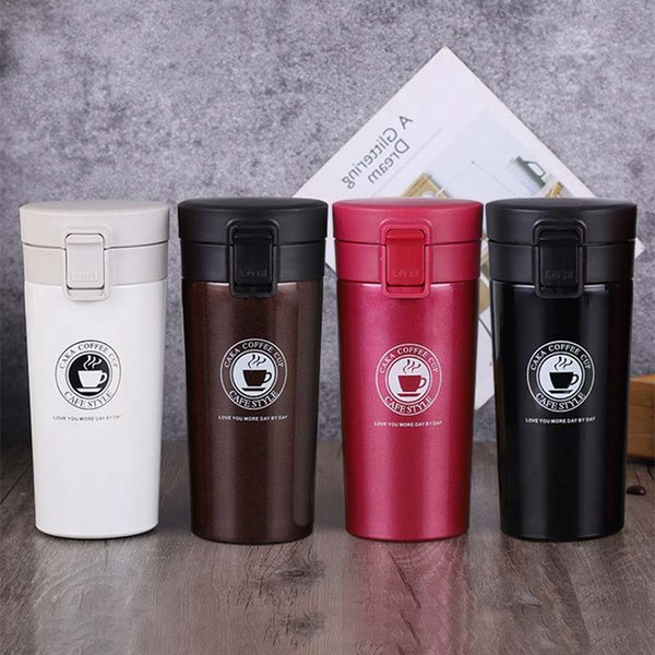 380 ml Kahve Termos Kupa Mini Termos Çay Vakum Şişeler için Taşınabilir Termo Kupa Paslanmaz Çelik Termoslar Termal Araba Fincan