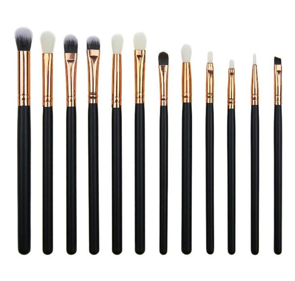 Newest 12pcs Makeup Brushes Set For eyeshadow eyebrows and lips makeup Professional design for women texture is soft and skin friendly.