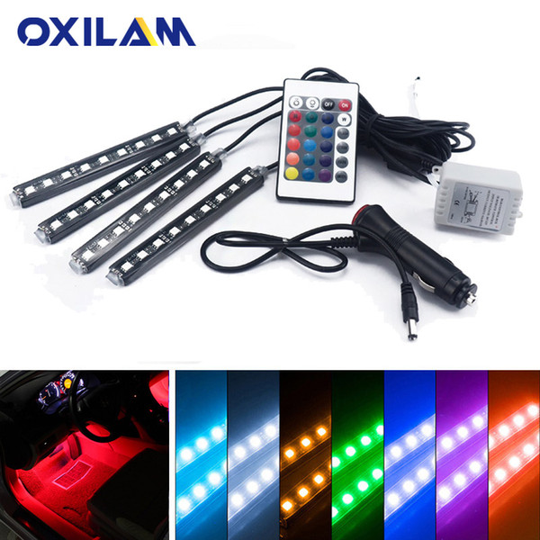 LED Strip RGB Atmosphere Lamp Car Interior Ambient Light for Seat Leon fr Ibiza 6l 6j Altea Cordoba Toledo with Remote Control