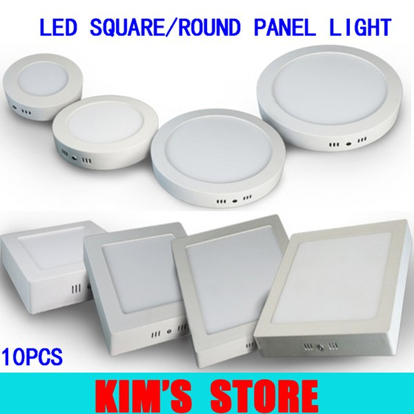 Free shipping 9W/15W/21W/30W Round/Square Led Panel Light Surface Mounted Downlight lighting Led ceiling down AC 110-240V + Driver