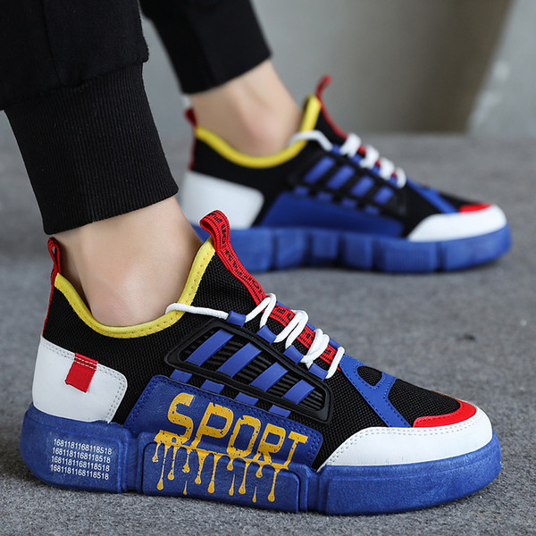 Men Casual Sneakers Male Shoes Blue Red Flat Comfortable Boys Fashion Sneakers Comfortable Walking Casual Shoes for Men