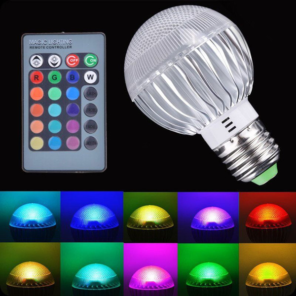 Nouvelle 5W E27 LED RGB LED Ampoule avec télécommande IR Pop Lampe Changement de couleur AC 85-265V changer ampoules LED Tubes