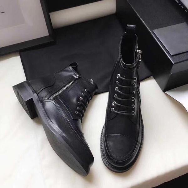 Stivali da donna firmati in vitello lace up combattimento spinta pelle verniciata berretto nero toe ankle boots ragazza Madden scarpe tacco di massima dimensione us5-10 v8