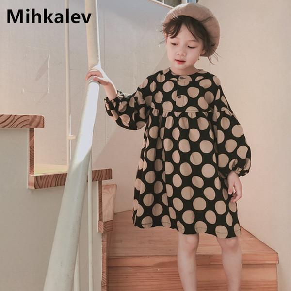 Mihkalev bonito da menina do vestido do bebê primavera verão vestidos crianças roupas meninas vestidos de princesa para crianças roupas traje mx190724