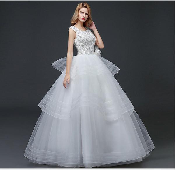 Wholesale supply wedding dress open-back dress dress white tie V collar lace