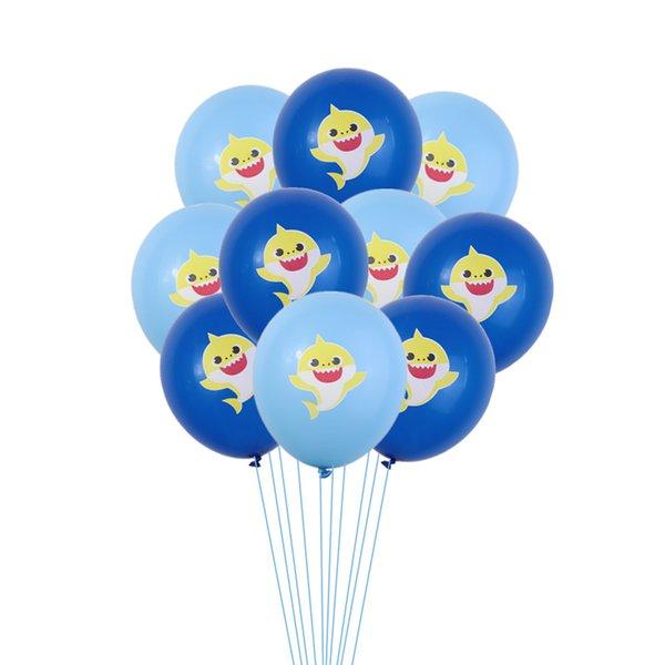 Bebek Köpekbalığı Balonlar Karikatür Lateks Şişme Balon Çocuk Çocuk Doğum Günü Tema Parti Düğün Sahne Tedarik Dekorasyon Hediye Oyuncaklar C71104