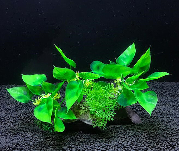 Aquarium Artificial Plant Ornament New Fish Tank Simulated Waterweed Scenery Plastic Waterweed Decorative Set Rockery Base
