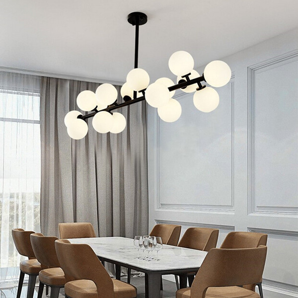 Black/gold Magic bean glass Pendant Lights retro vintage loft industrial pendant lamp muti glass pendant lighting lamparas - I132