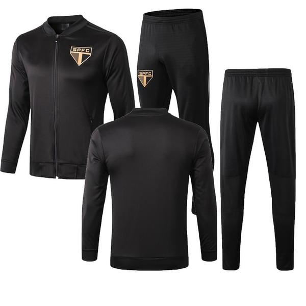 Giacca 20198 2020 di alta qualità Chandal Brazil Club Giacca a vento con zip lunga Sao Paulo 2019 Sao Paulo Sportswear spedizione gratuita
