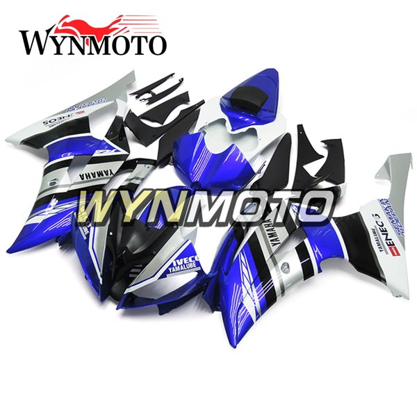 Complete Motorcycle Fairings For Yamaha YZF 600 R6 2008 - 2016 09 10 11 12 13 14 15 ABS Plastic Injection Motorcycle Blue Silver Cowlings