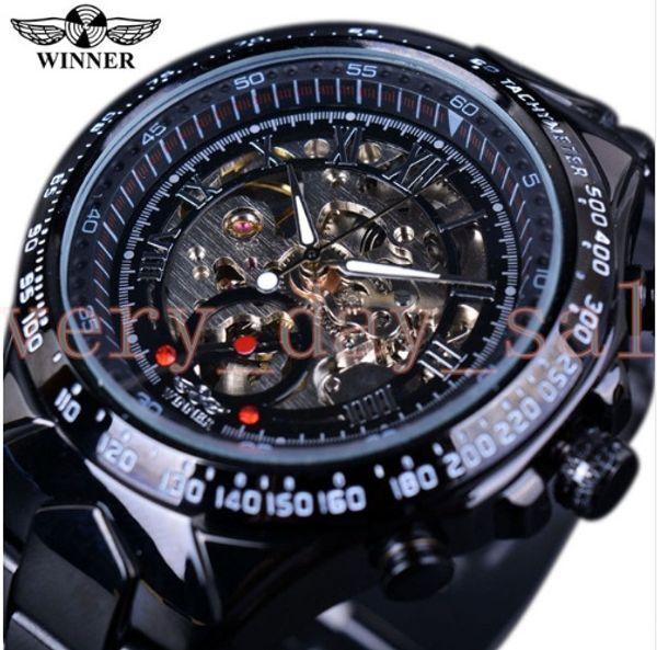 Winner New Number Sport 44mm Design Bezel Golden Watch Mens Watches Top Brand Luxury Montre Homme Clock Men Automatic Skeleton Watch 116710