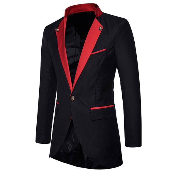 2019 Yeni Kış Yün Ceket Erkekler Eğlence Uzun Bölümler Yün Palto erkek Saf Renk Rahat Moda Ceketler Erkekler Palto