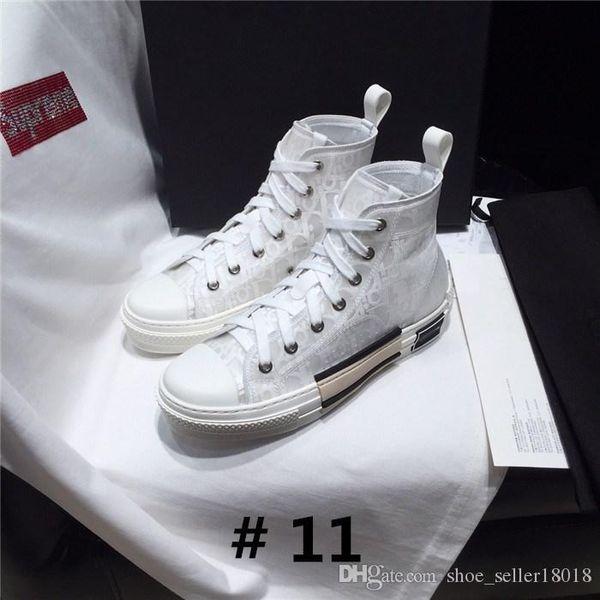 shoe_seller18018 / Alto Top Oblique Lona Técnica B23 Sneaker em sola de borracha branca e preta, Mulheres Mens Casual Plana Botas com Caixa