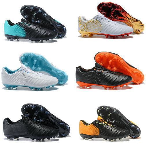 2018 Tiempo VII Legend FG 7 CR7 Soccer Boots Men Six Choice Vivid Colors Fashion Top Quality Football Shoes Size In 39-45