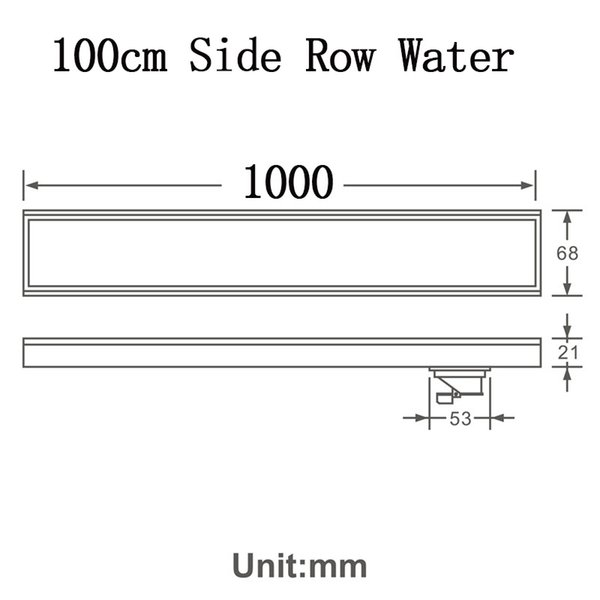 100cm Side Row Water