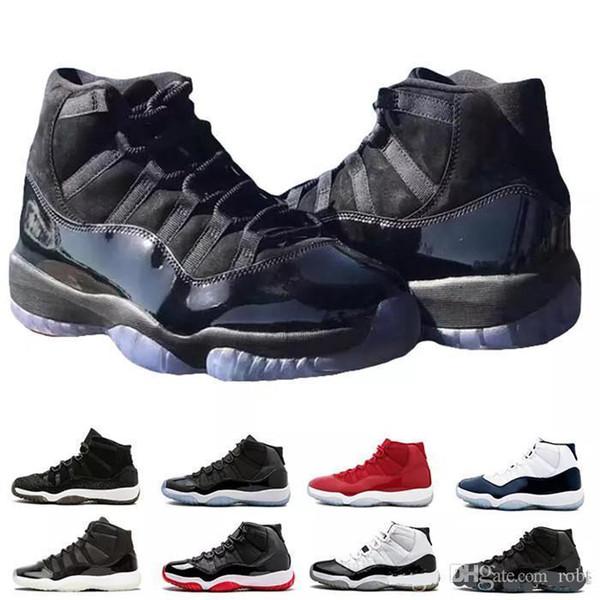 Homens lfssba 11 s XI Sapatos de Basquete Jam True Azul Platinum Matiz Ginásio Vermelho Raça Barons Concord 45 Sneaker Vestido de baile de finalistas midNight branco formadores