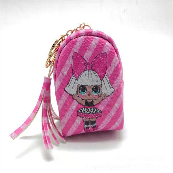 2019 girl cartoon DOLL handbag Headphone box data cable storage bag change debris box kid girl cartoon Coin wallet bag zxoo3