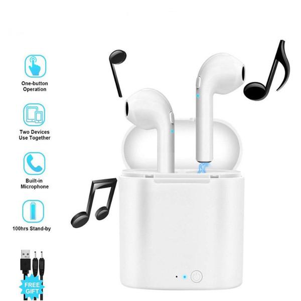 Bestselling i7s TWS Mini Wireless Bluetooth Earphone Stereo Earbud Headset Headphones Mic For Iphone Xiaomi All Smart Phone i10 i12 5PCS/lot